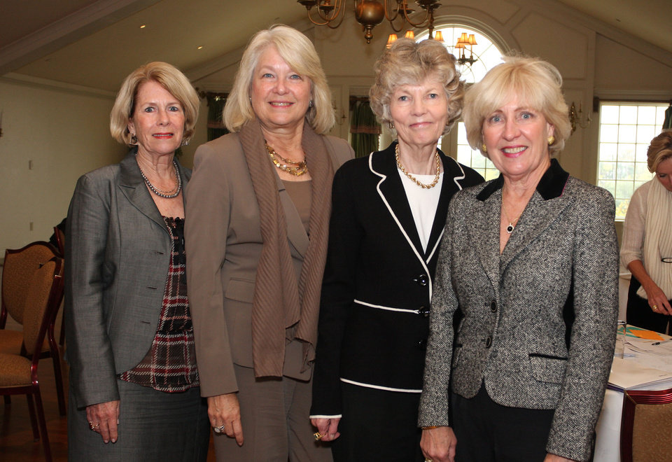 Photo -  Kathy Walker, Millie Hightower, Sally Lenz and Susan McPherson also participated in the Winter Ball luncheon.