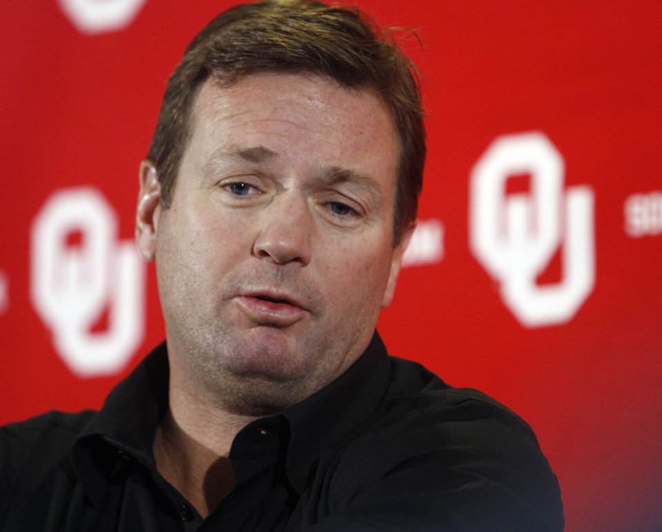 University of Oklahoma college football head coach Bob Stoops. By Steve Sisney