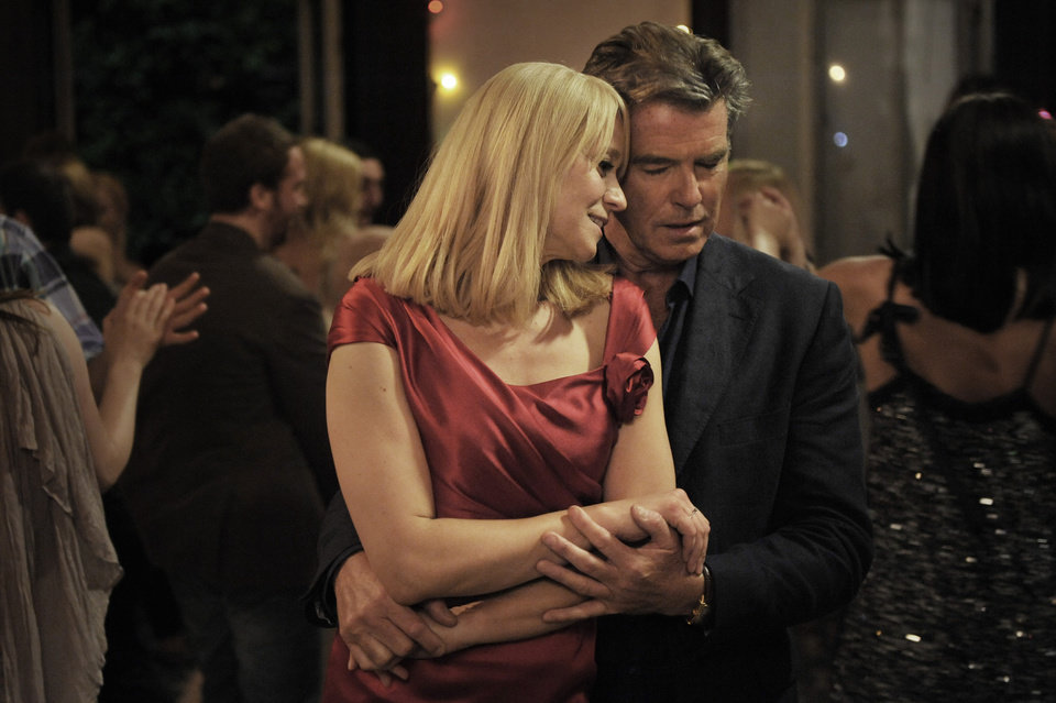 This publicity photo released by courtesy Sony Pictures Classics shows Trine Dyrholm as Ida, left, and Pierce Brosnan as Philip, in the film,