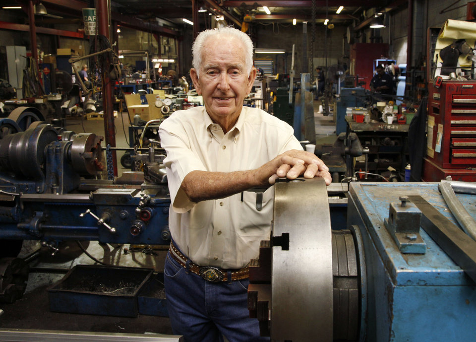 Photo -  Capitol Electric Motor Repair owner Roland Harrison is celebrating 50 years at his business in southwest Oklahoma City. Photo by Paul Hellstern, The Oklahoman   PAUL HELLSTERN -  Oklahoman