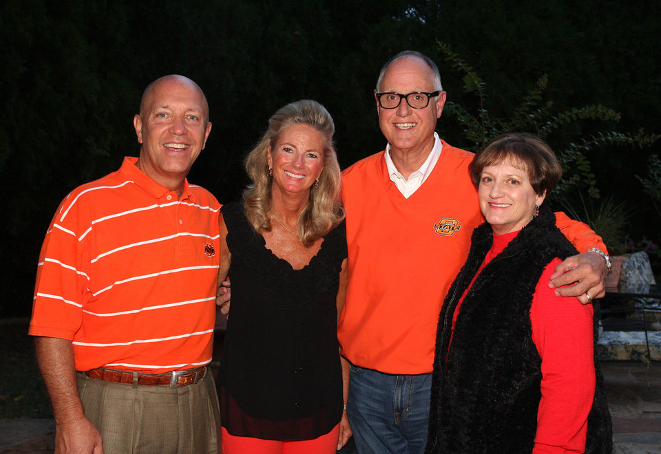 Photo - Clayton and Marnie Taylor, state Rep. Harold Wright, Carol Wright.