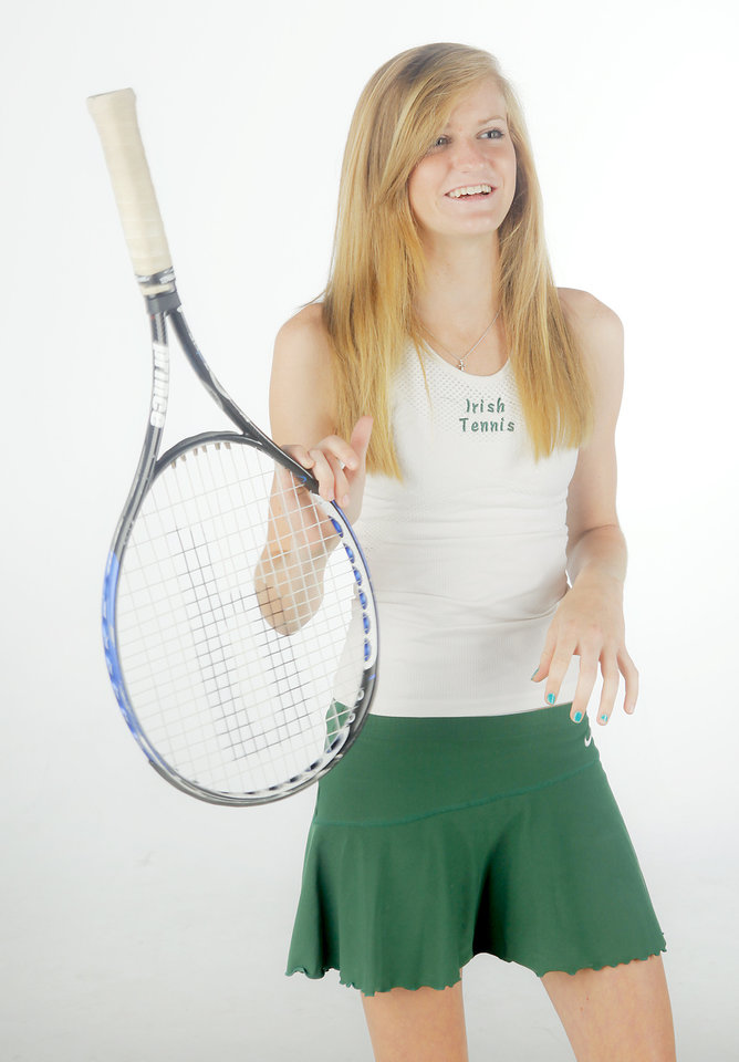 Photo - HIGH SCHOOL TENNIS: All-City Girls Tennis Player of the Year Bishop McGuinness' Whitney Ritchie photographed in the OPUBCO studio on Monday, June 1, 2009, in Oklahoma City, Okla.  Photo by Chris Landsberger, The Oklahoman  ORG XMIT: KOD