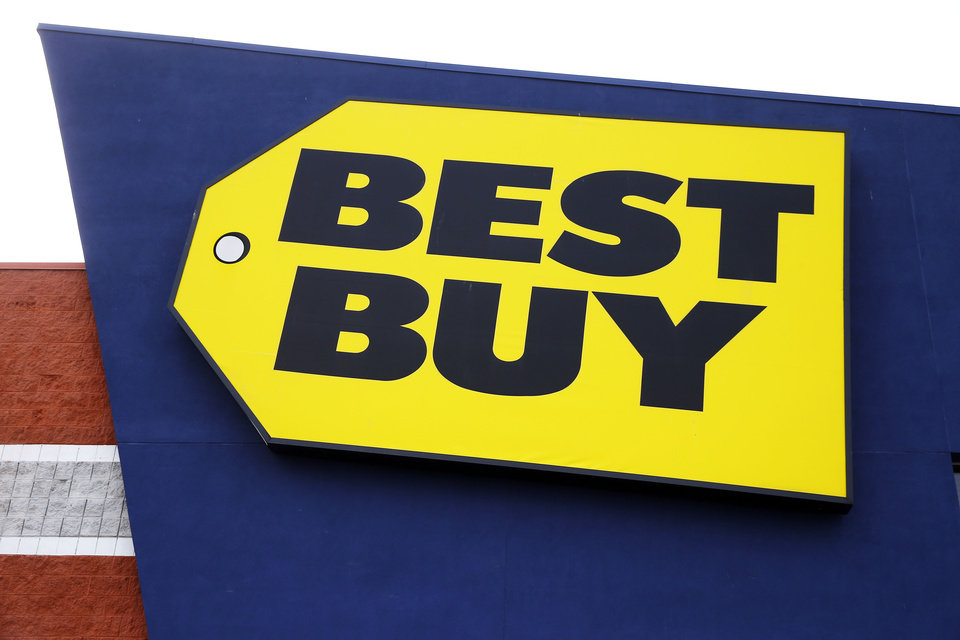 Photo - This March 25, 2014 photo shows a Best Buy store in Philadelphia. Best Buy reports quarterly financial results on Thursday, May 22, 2014. (AP Photo/Matt Rourke)