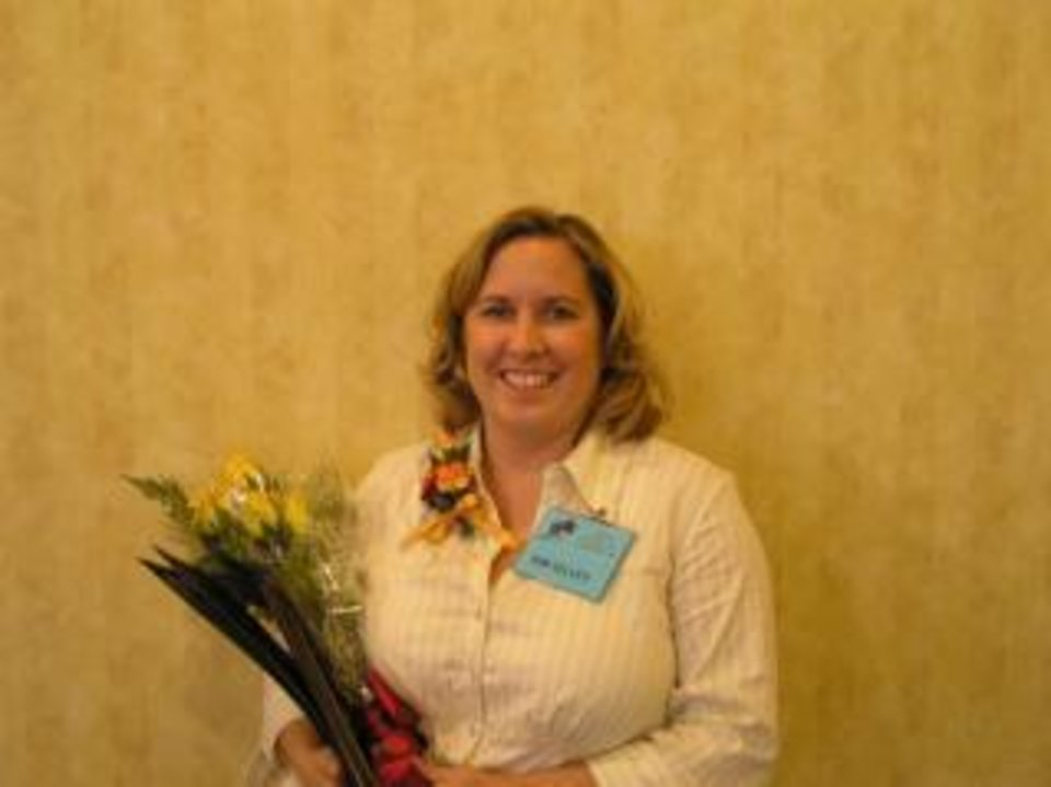 "Kim Selvey, director of nursing at Grace Living Center-Bethany, is all smiles after being named ""Director of Nursing of the Year"" by the Oklahoma Association of Health Care Providers.<br/><b>Community Photo By:</b> Keith Long, Grace Living Centers<br/><b>Submitted By:</b> Tilford, Oklahoma City"