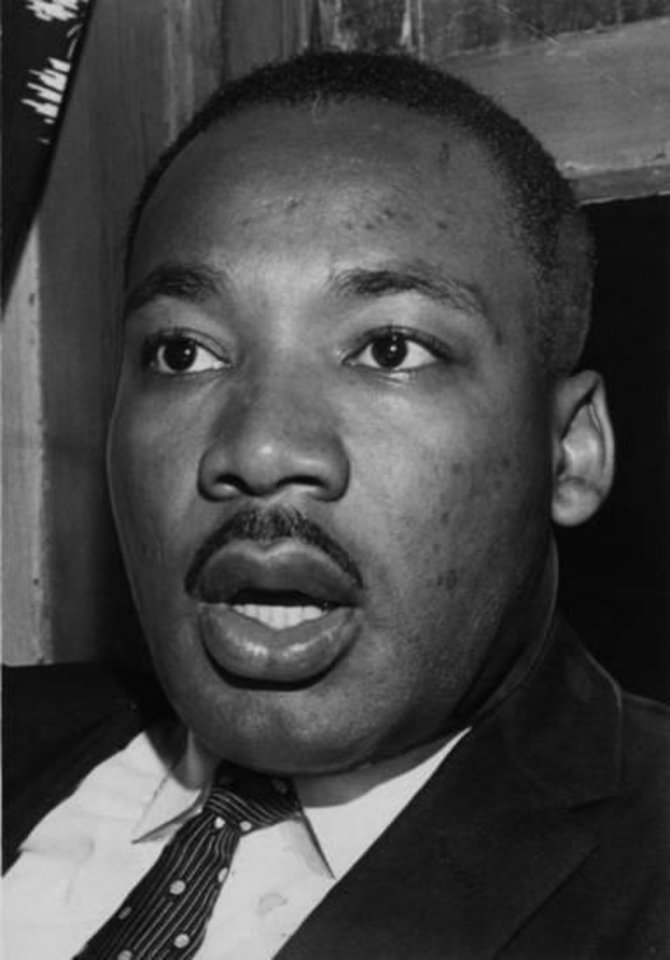 Photo - The Rev. Martin Luther King Jr. during a visit to Oklahoma City in 1960.