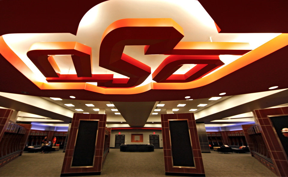 Photo - OSU / INTERIOR / FOOTBALL STADIUM: The completed addition to the west end zone of Boone Pickens Stadium at Oklahoma State University on Tuesday, June 2, 2009, in Stillwater, Okla.  Photo by Chris Landsberger, The Oklahoman  ORG XMIT: KOD