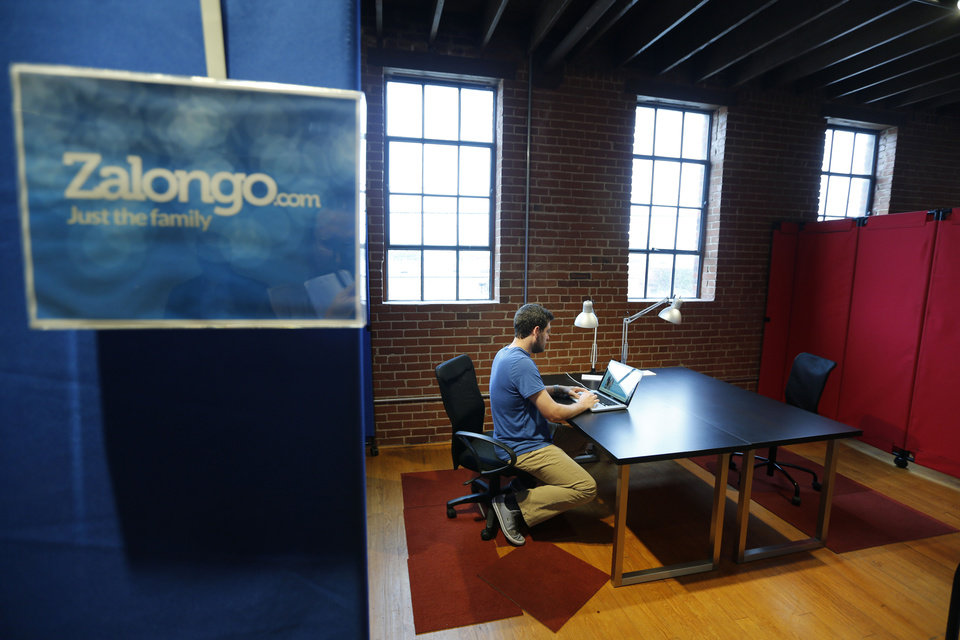 Hal Gatewood, creator of Zalongo works at VENTURESPUR in Oklahoma City. PHOTO BY STEVE GOOCH, THE OKLAHOMAN <strong>Steve Gooch - The Oklahoman</strong>