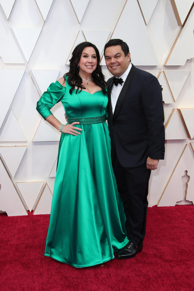 Photo - Feb 9, 2020; Los Angeles, CA, USA;   Kristen Anderson-Lopez, left and Robert Lopez arrive at the 92nd Academy Awards at Dolby Theatre. Mandatory Credit: Dan MacMedan-USA TODAY