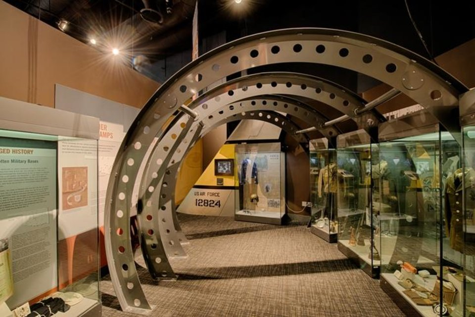 """""""A Sense of Duty: Oklahomans Defending Their Country,"""" the Oklahoma History Center\'s updated exhibit delving into Oklahoma\'s military history, spans from the 1834 Dragoon Expedition in Indian Territory to the stories of state servicemen and women fighting in the wars in Iraq and Afghanistan."""