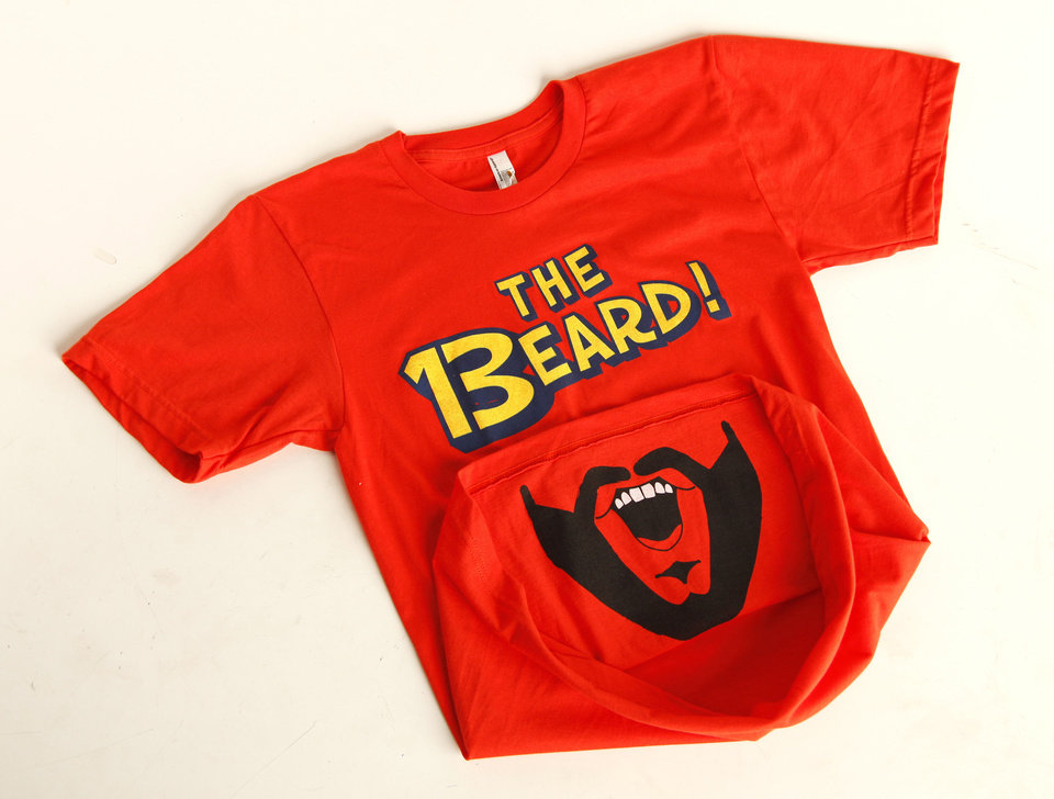 Photo - The Beard T-shirt sold at Collected Thread. Photo by Doug Hoke, The Oklahoman  DOUG HOKE