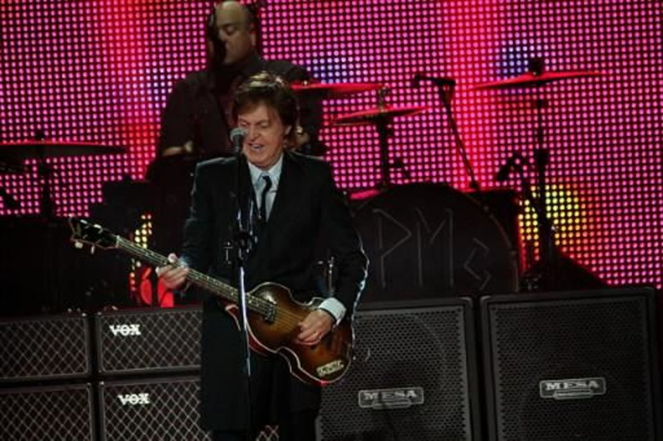 Sir Paul McCartney plays the BOK Center in Tulsa Wednesday May 29, 2013. Photo by Vernon Gowdy III, for The Oklahoman