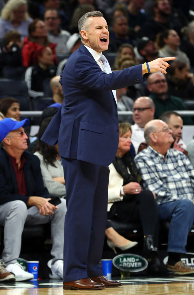 Photo - Jan 22, 2020; Orlando, Florida, USA; Oklahoma City Thunder head coach Billy Donovan reacts against the Orlando Magic during the second half at Amway Center.  [Kim Klement/USA TODAY Sports]