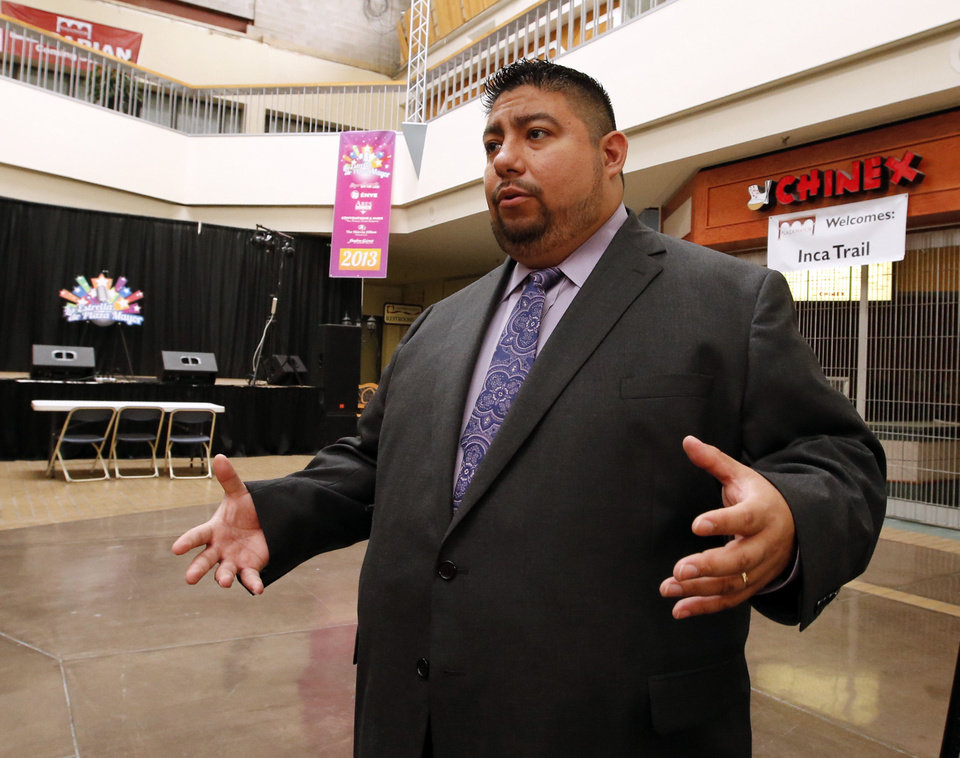 Plaza Mayor marketing director Robert Ruiz on Tuesday. Photo by Steve Sisney, The Oklahoman <strong>STEVE SISNEY - THE OKLAHOMAN</strong>