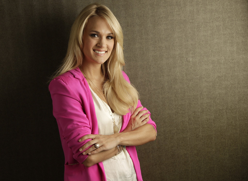Photo -   This April 19, 2012 photo shows Carrie Underwood in Nashville, Tenn. Underwood's latest release