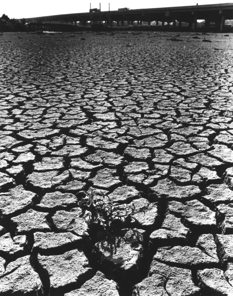 The effects of the drought are shown in this 1980 photo.
