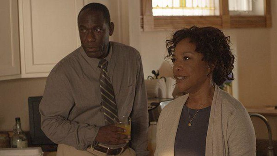 "James McDaniel and Lynn Whitfield portray foster parents Mike and Vanessa Stubbs in a scene from the feature film ""King's Faith."" Photo provided <strong></strong>"