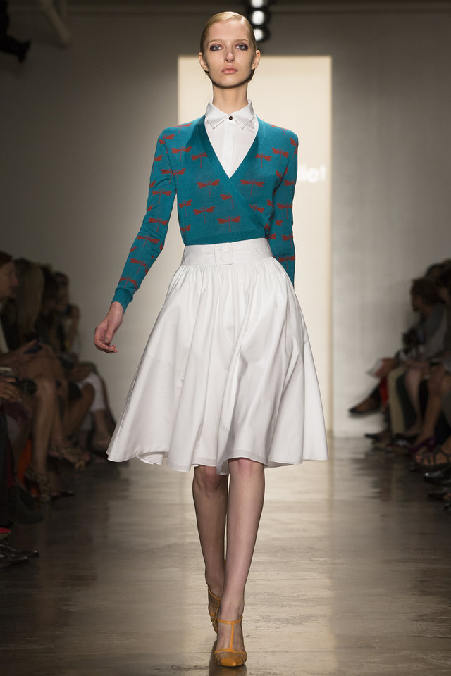 Photo -   The Sophie Theallet Spring 2013 collection is modeled during Fashion Week in New York, Tuesday, Sept. 11, 2012. (AP Photo/John Minchillo)