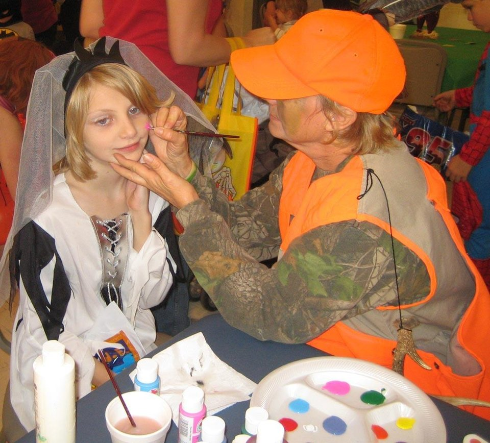 Nicole Hubbard gets her face painted at the Family Fall Festival at First Christian Church in Guthrie. Community Photo By: Sharon Johnston Submitted By: Karen,