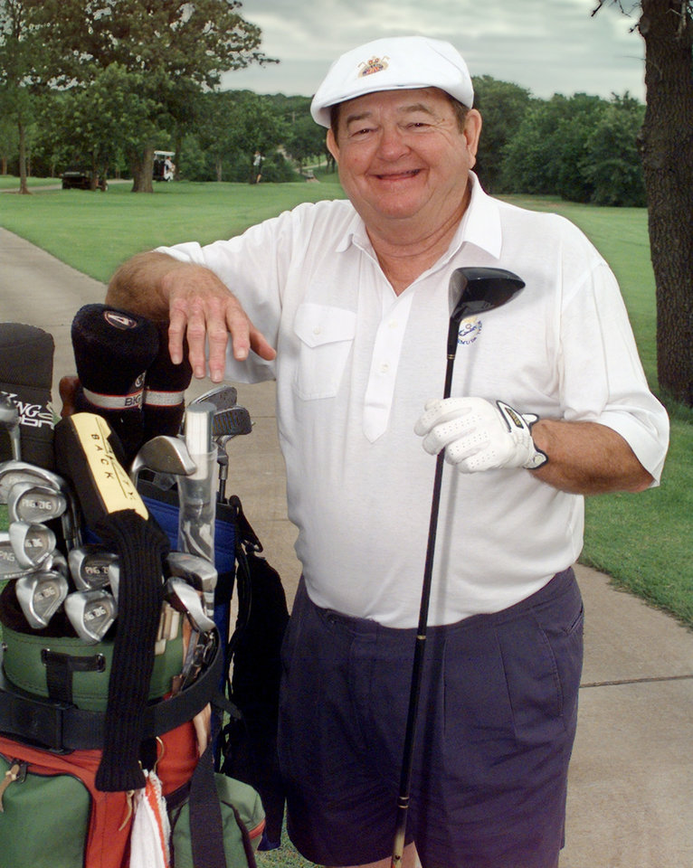 Bob Barry Sr. on the golf course at Coffee Creek.