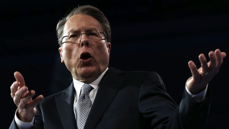Photo -  NATIONAL HARBOR, MD - MARCH 15:  Wayne LaPierre, CEO of the National Rifle Association, delivers remarks during the second day of the 40th annual Conservative Political Action Conference (CPAC) March 15, 2013 in National Harbor, Maryland. The American conservative Union held its annual conference in the suburb of Washington, DC, to rally conservatives and generate ideas.  (Photo by Alex Wong/Getty Images)
