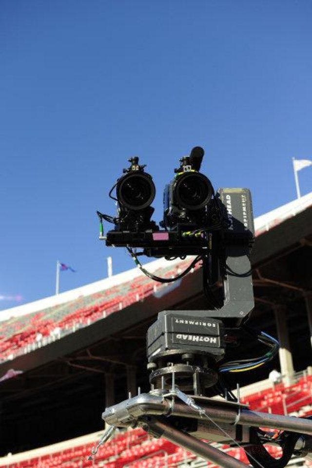 ESPN's first 3D telecast was the USC at Ohio State football game on Sept. 12, 2009. <strong>Jeff Mills - ESPN</strong>