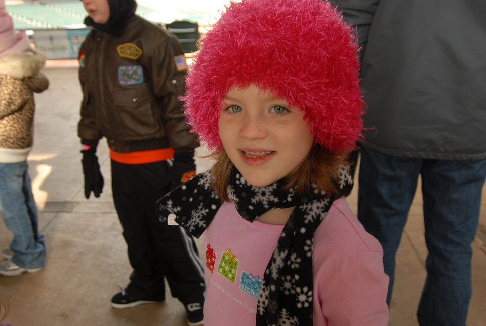 Sophie Jordan is all decked out in her favorite hat for snow tubing at AT&T Ballpark.  (Sophie is my granddaughter, who lives in Edmond)<br/><b>Community Photo By:</b> Gina Jordan Kishur<br/><b>Submitted By:</b> Gina Jordan, Oklahoma City