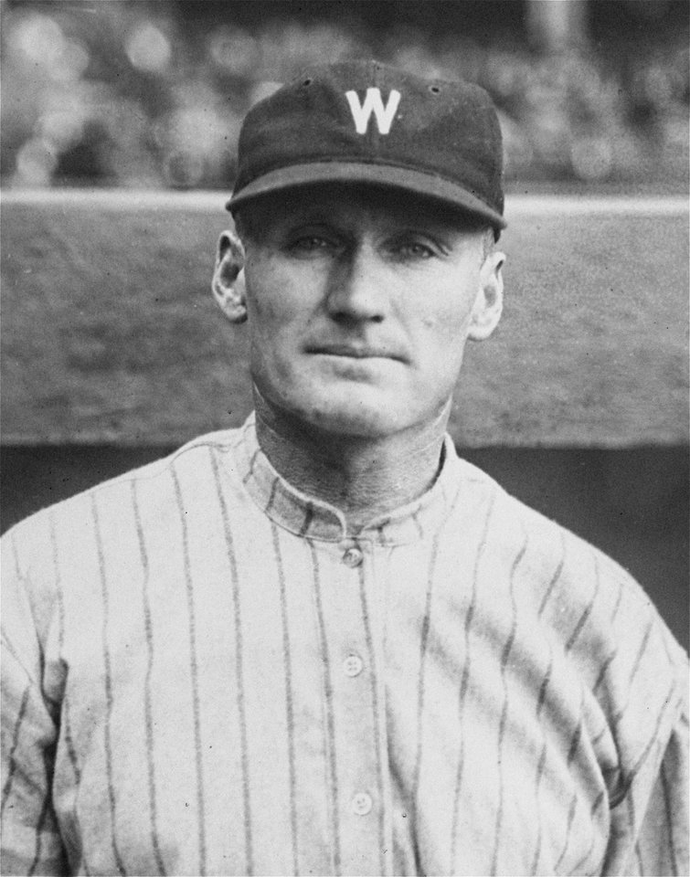 FILE - In this Sept. 26, 1924, file photo, Walter Johnson, veteran pitching ace of the Washington Senators, poses for a photo. In 1924, there was a national buzz about Johnson, one of baseball's all-time greatest pitchers. Like this year's Washington Nationals, the 1924 World Series champion Washington Senators generated excitement in a city starved for a baseball winner. The Nats will begin their quest for the city's second championship when the playoffs begin this weekend. (AP Photo/File)