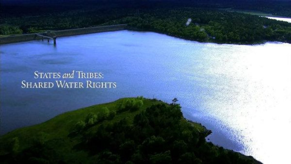 Photo - The Chickasaw Nation has been airing a series of commercials across the state to promote cooperation between the state and tribes on water issues. This picture was taken from one of the commercials.  Photo provided. - Photo provided