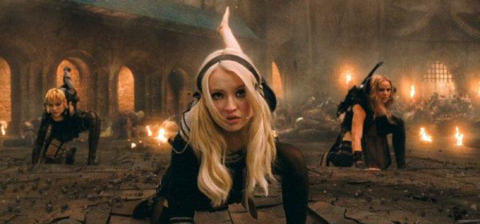 Photo - From left, Jena Malone as Rocket, Emily Browning as Babydoll and Abbie Cornish as Sweet Pea in