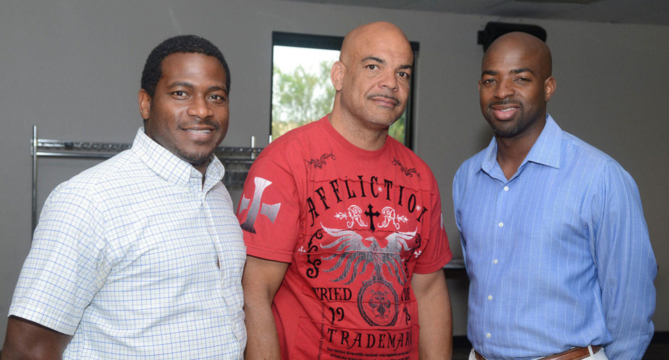 Photo - Renaldo Graves, Monroe Hinton, Fred Simpkins. Photo by David Faytinger, for The Oklahoman