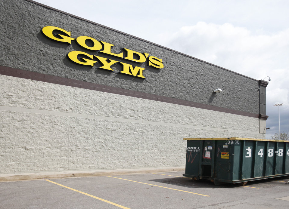 Photo - A Gold's Gym is under construction northwest of N Pennsylvanuia Avenue and Memorial Road. Gold's is returning to the Oklahoma City area after being absent for several years.  PAUL HELLSTERN - The Oklahoman
