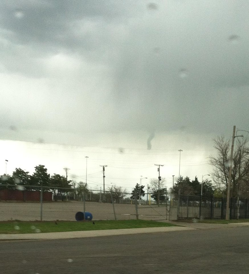 Funnel cloud Wednesday afternoon near State Fair Park