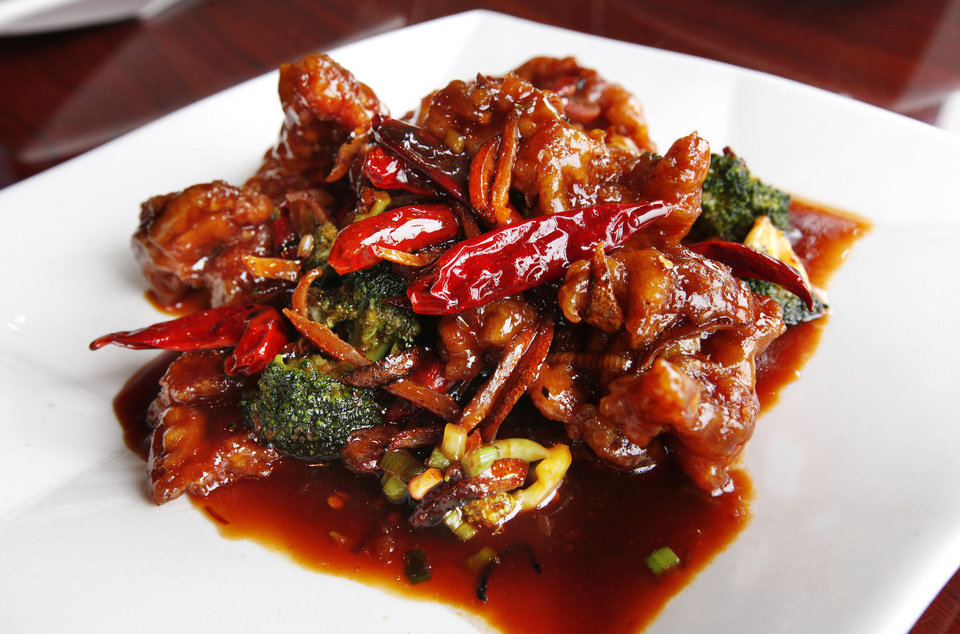 Orange Beef at the Szechuan Bistro, 1010 W Memorial Road, in Oklahoma City. <strong>PAUL B. SOUTHERLAND - THE OKLAHOMAN</strong>