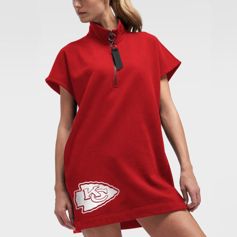 Photo - DKNY x NFL women's zip-front Kansas City Chiefs dress.