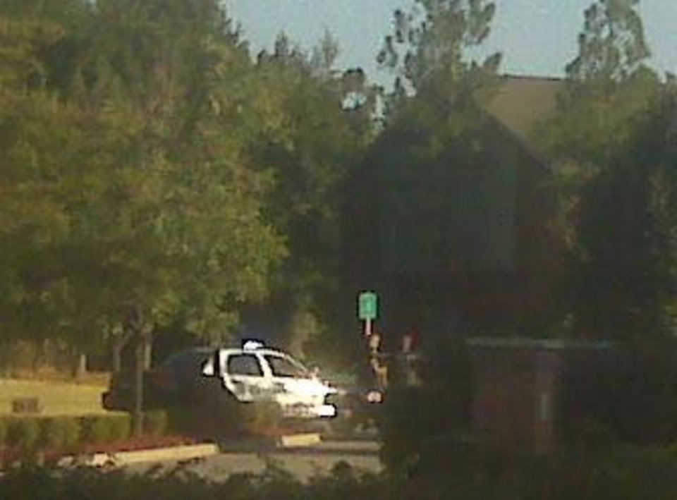 Access is prevented at the entrance to the ChapelRidge Apartments Thursday morning - Photo by Robert Medley