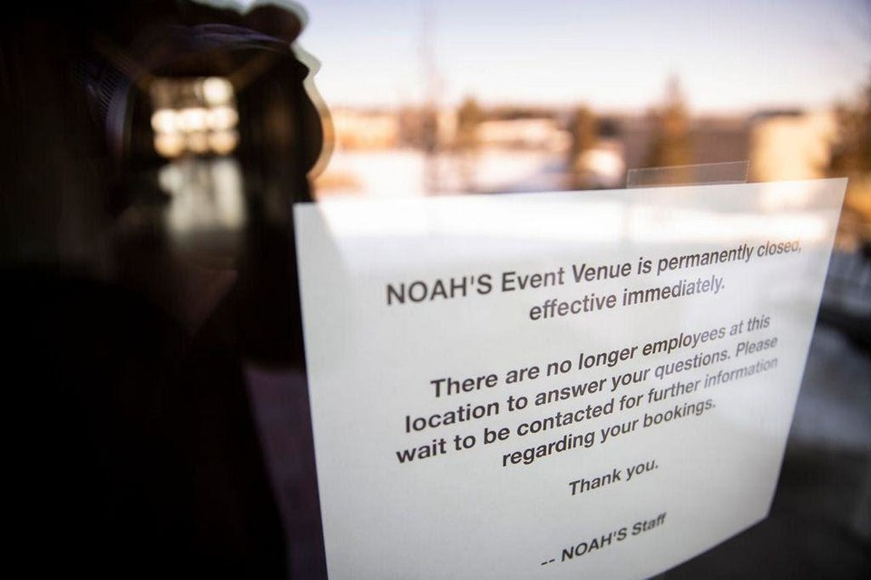 Photo - Noah's Event Venue closed suddenly last week and now many Des Moines couples are without a wedding venue. The empty building is seen on Feb. 11, 2020, in West Des Moines. [Brian Powers/The Register]