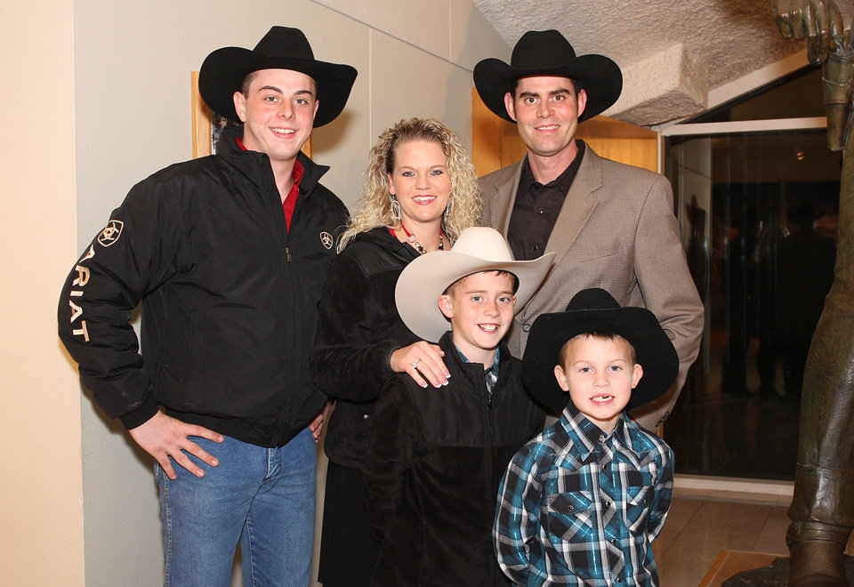 Dakota, Serena, Keegan (11), Caleb, and Kaden (6) Cummings. Photo by David Faytinger for the Oklahoman__