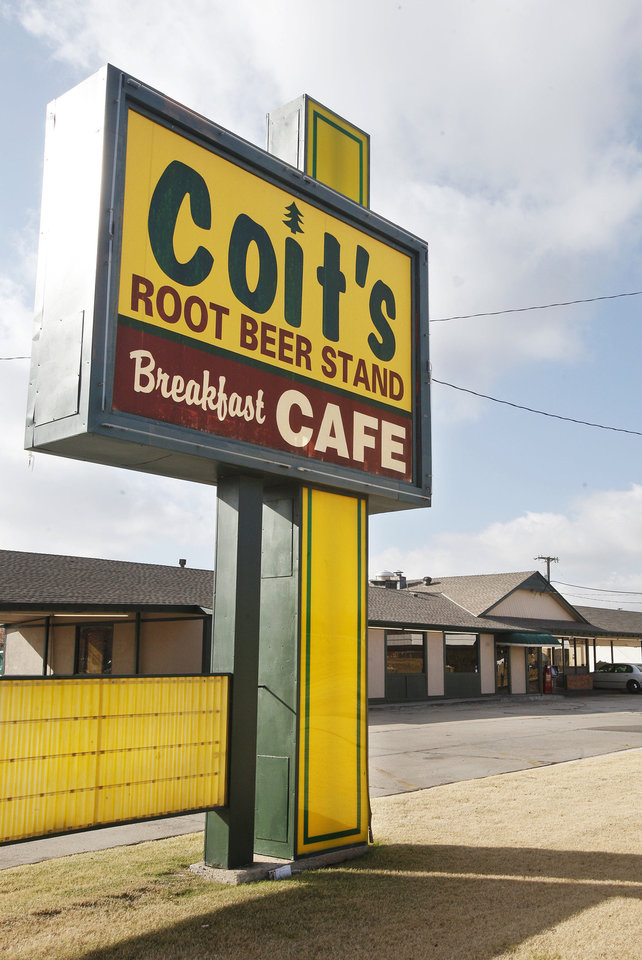 A closed Coits Root Beer Drive-in on Pennsylvania at I-44 in Oklahoma City Monday, Dec. 3, 2012. Photo by Paul B. Southerland, The Oklahoman
