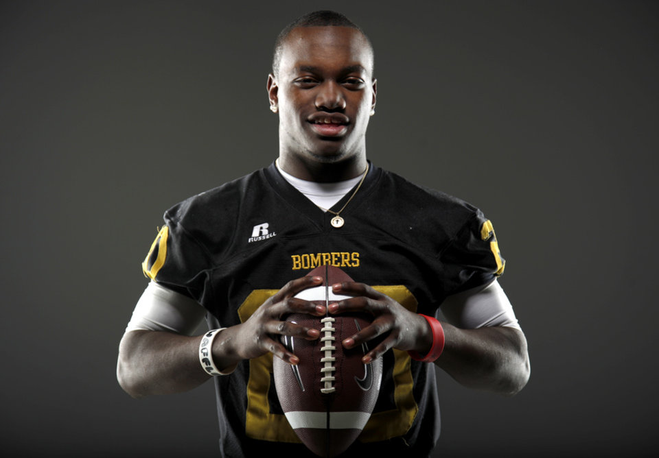 All-State football player James Flanders, of Midwest City, poses for a photo in Oklahoma CIty, Wednesday, Dec. 14, 2011. Photo by Bryan Terry, The Oklahoman