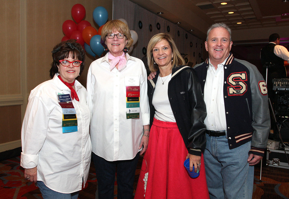 Deborah Reheard, Peggy Stockwell, Kathy and Jim Stuart. PHOTO BY DAVID FAYTINGER, FOR THE OKLAHOMAN <strong></strong>
