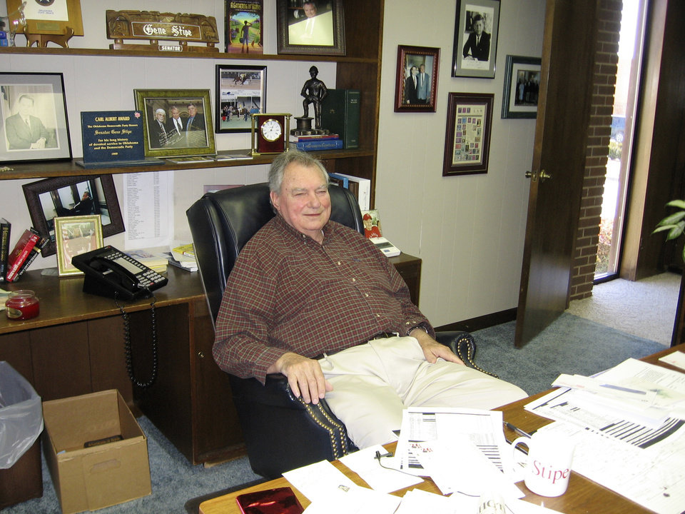 FORMER STATE SENATOR: Gene Stipe photos taken by Penny Cockerell during her interview with Stipe in his office.