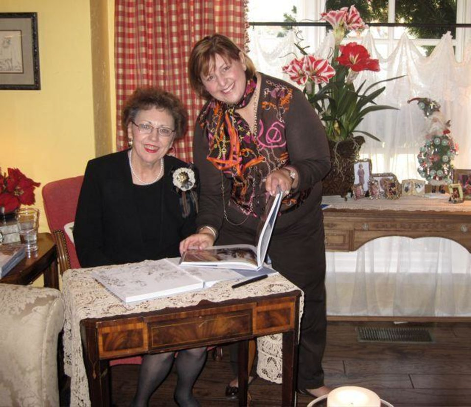 CELEBRATING THE BOOK...M.J. Van DeVenter and her daughter, Cindy  Hazelwood. (Photo by Helen Ford Wallace).