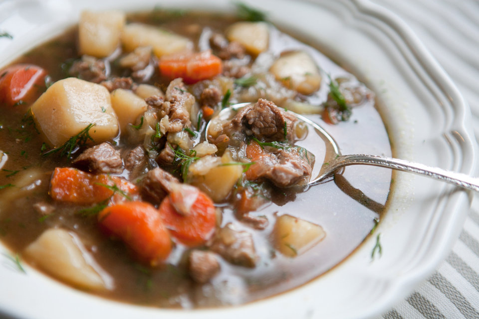 Photo - rish Brisket Stew with Guinness Stout, Cabbage and Potatoes is among the favorite recipes from the past year from the pages of the Atlanta Journal-Constitution. (Renee Brock/Atlanta Journal-Constitution/MCT)