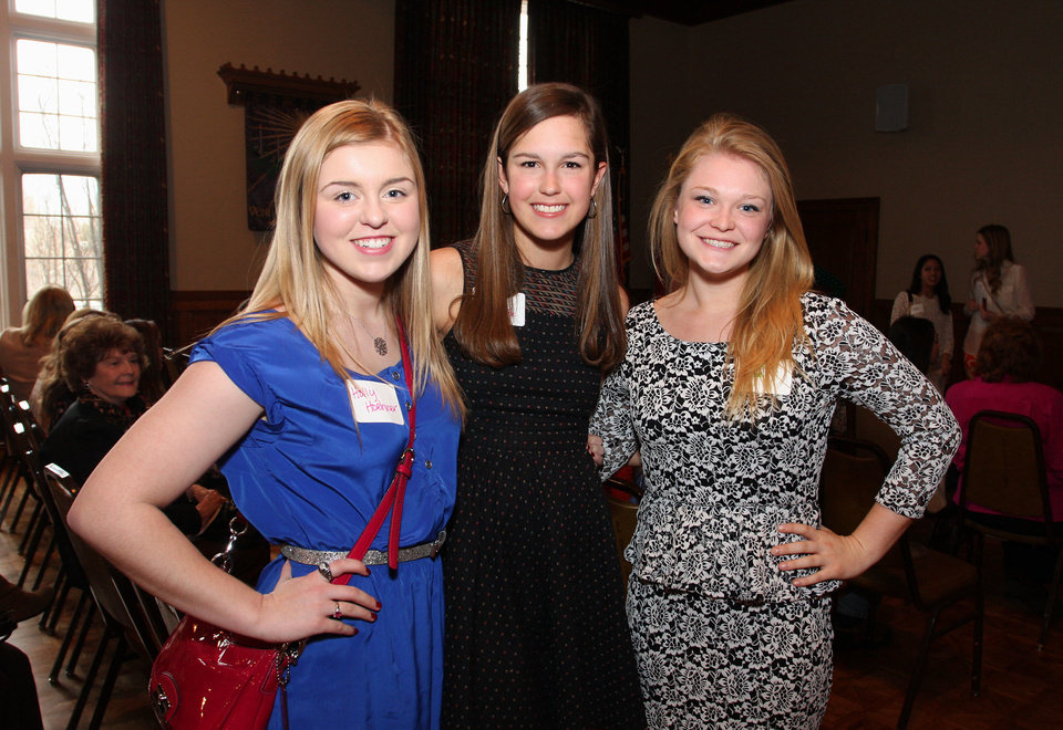 Photo - Holly Hoehner, Allison Mee, Courtney McPhail. PHOTO BY DAVID FAYTINGER, FOR THE OKLAHOMAN