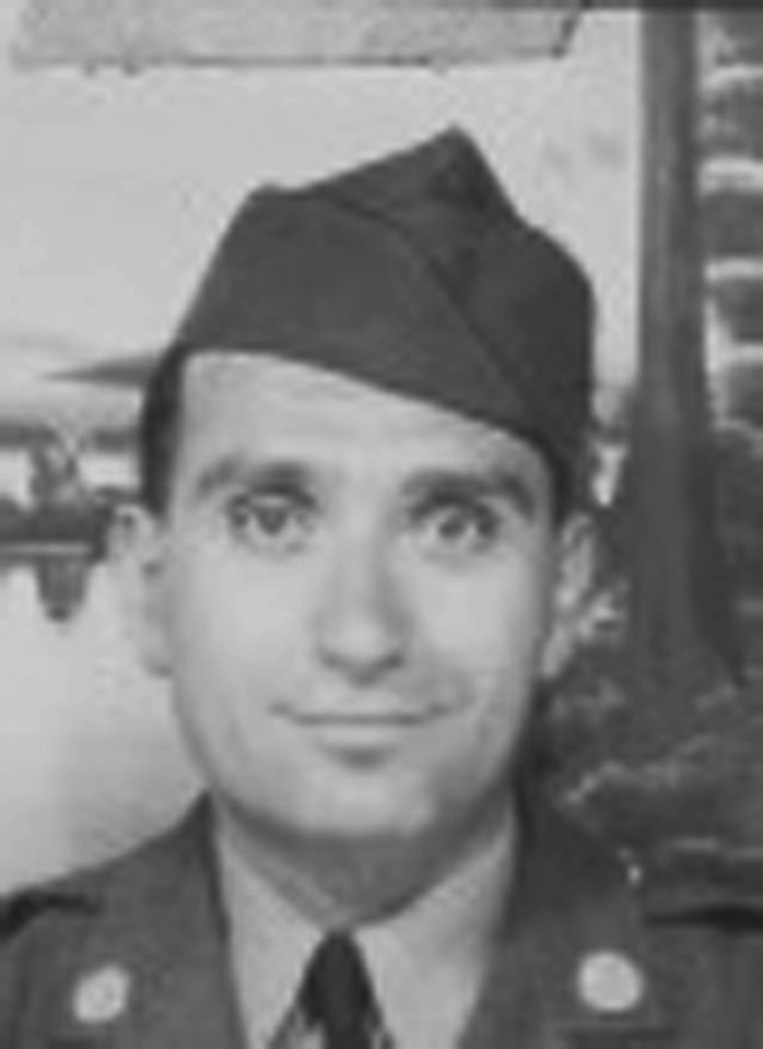 Photo - This undated image provided by Hyla Merin shows 2nd Lt. Hyman Markel. Markel was a rabbi's son, brilliant at mathematics, the brave winner of a Purple Heart who died in 1945. Markel was killed on May 3, 1945, in Italy's Po Valley while fighting German troops as an officer with the 88th Division of the 351st Infantry Regiment. (AP Photo/Hyla Merin)
