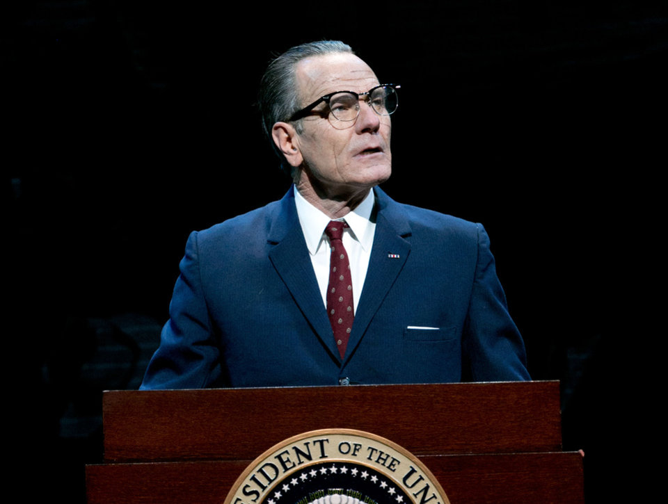 Photo - This image released by Jeffrey Richards Associates shows Bryan Cranston portraying President Lyndon B. Johnson during a performance of