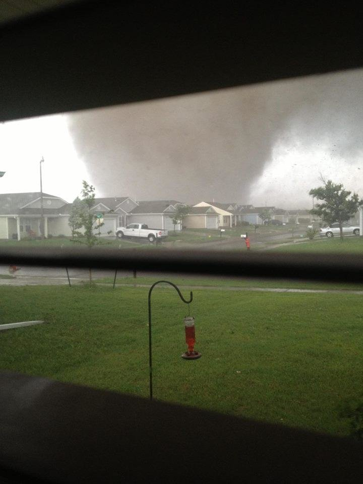 A living-room view of the May 20, 2013 tornado in Moore. Photo by Brett South