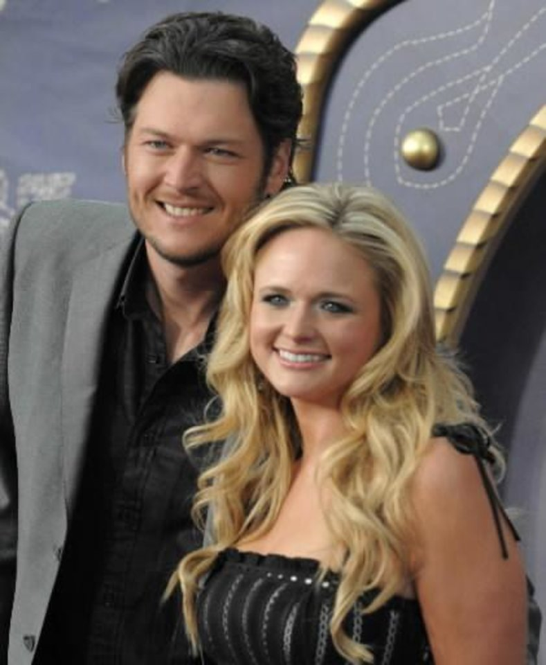 Photo -  Blake Shelton and Miranda Lambert (AP file)
