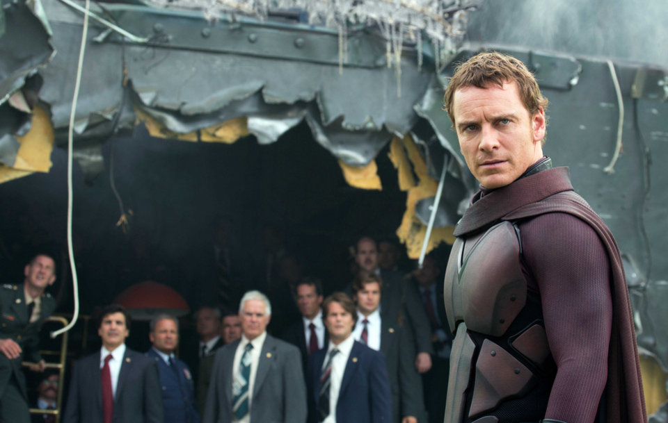 "This image released by 20th Century Fox shows Michael Fassbender in the film, ""X-Men: Days of Future Past."" (AP Photo/20th Century Fox, Alan Markfield)"