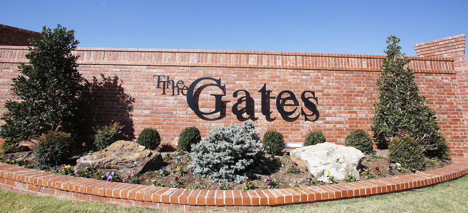 The Gates is a 35-home enclave of The Legacy addition near SW 134 and S May Avenue.  Photos by Steve Gooch, The Oklahoman